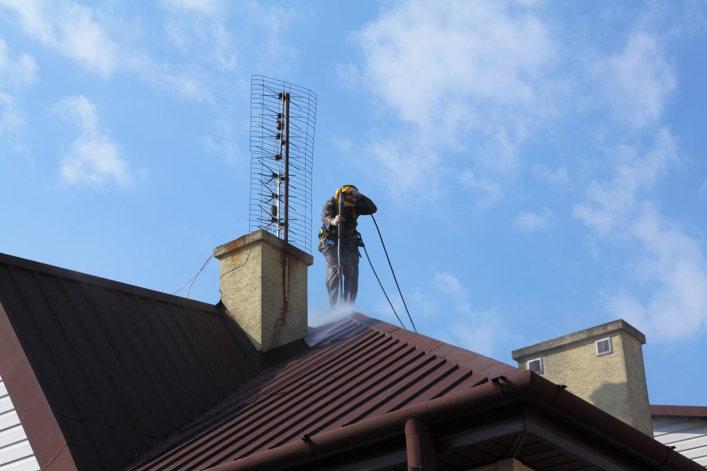Roof Washing in Arlington